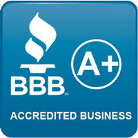 image of BBB logo. Earnest Watkins Construction is proud to be a BBB (Better Business Bureau) A+ Rated Commercial and Residential Remodeling Business!